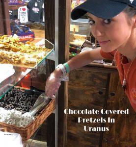 Chocolate Covered Pretzels in Uranus